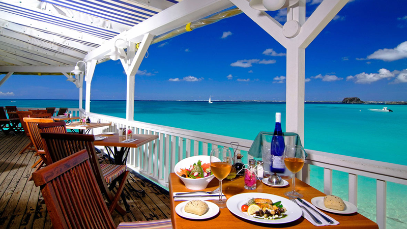 Grand Case Beach Club - terrasse